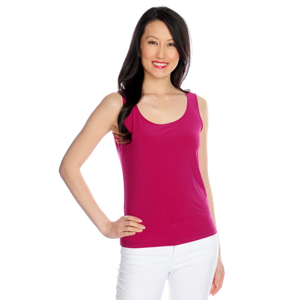 717-360 - aDRESSing WOMAN Stretch Knit Scoop Neck Layering Tank Top