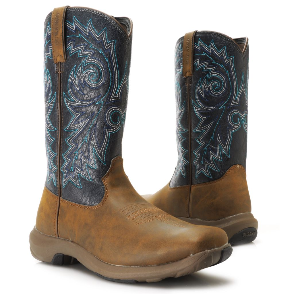 717-410 - Durango Men's Lightweight Square Toe Pull-on Mid-Calf Boots