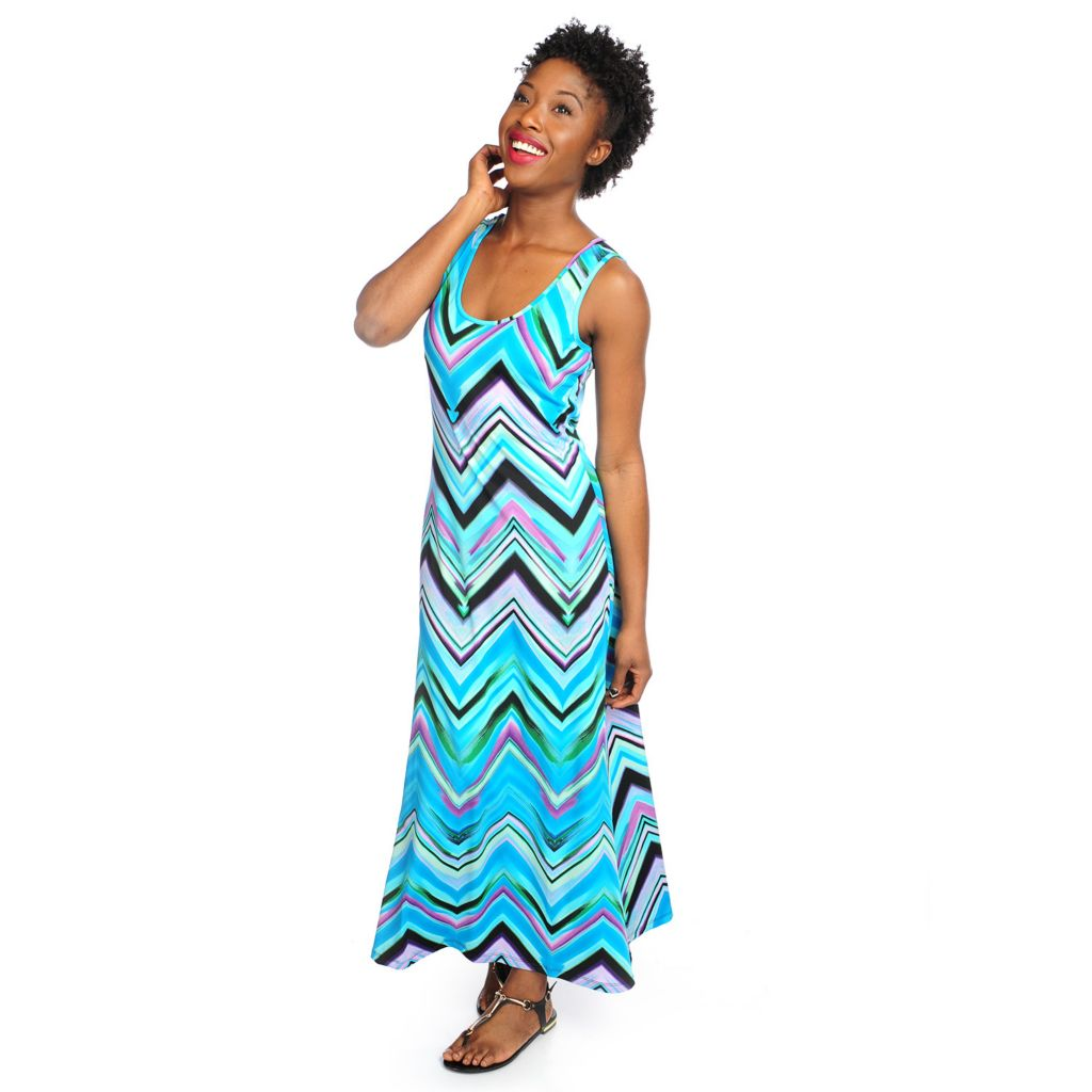 717-617 - aDRESSing WOMAN Stretch Knit Sleeveless Scoop Neck Maxi Dress