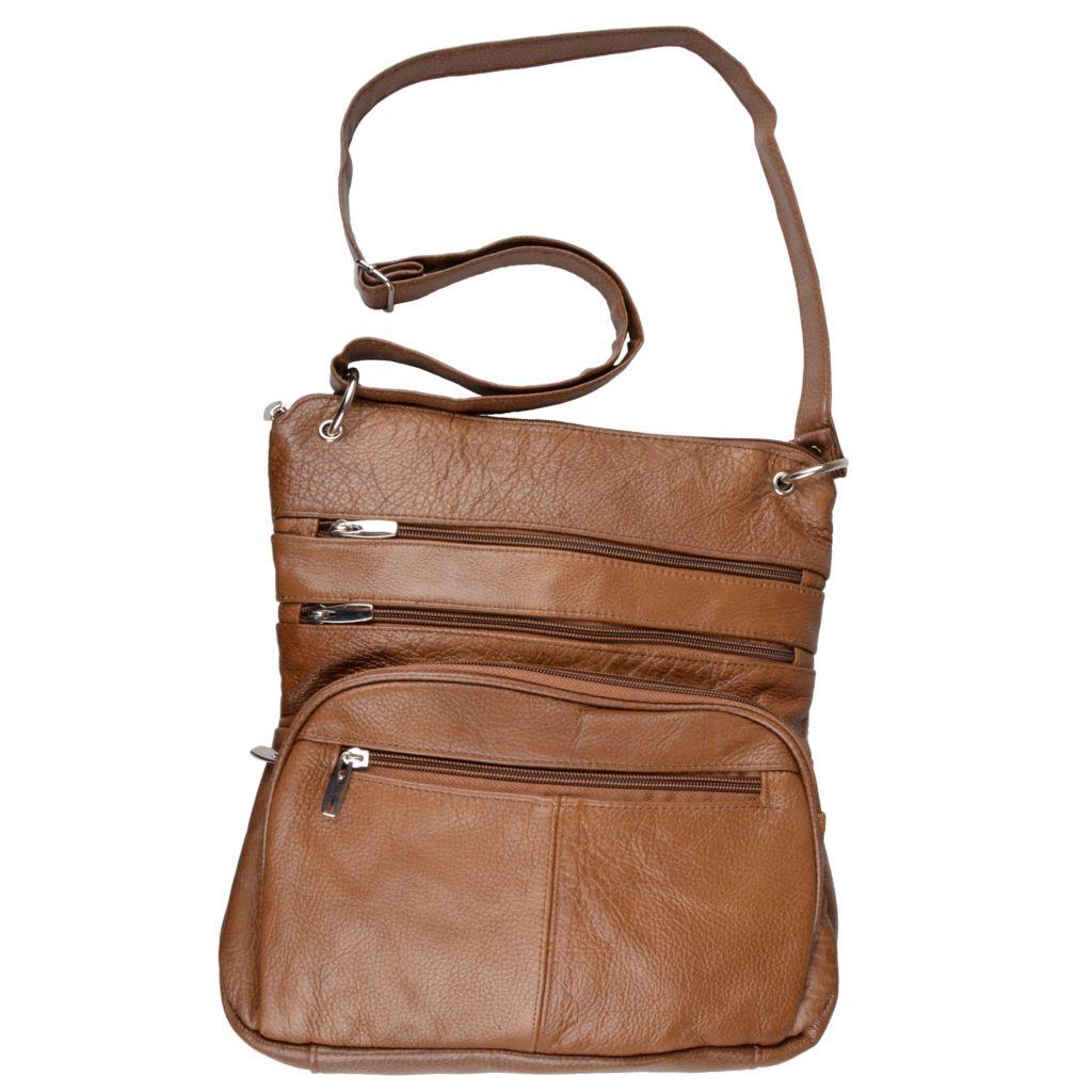 717-648 - Journee Collection Women's Genuine Leather Cross Body Handbag