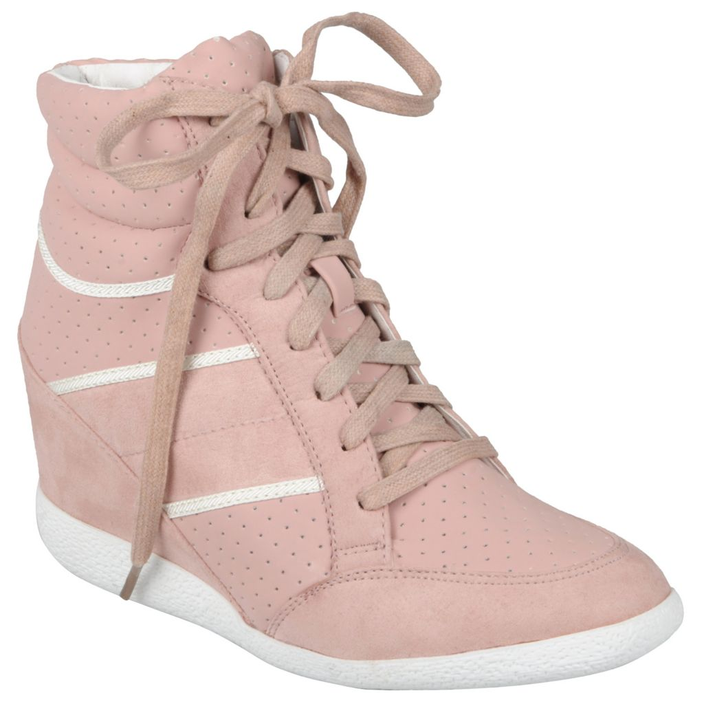 717-664 - Hailey Jeans Co. Women's Lace-up Wedge High-top Shoes