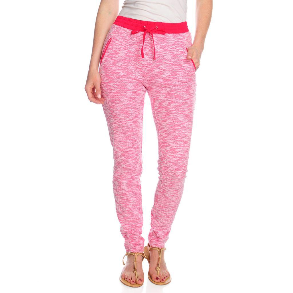 717-688 - WD.NY Marled Knit Drawstring Waist Two-Pocket Pull-on Pants