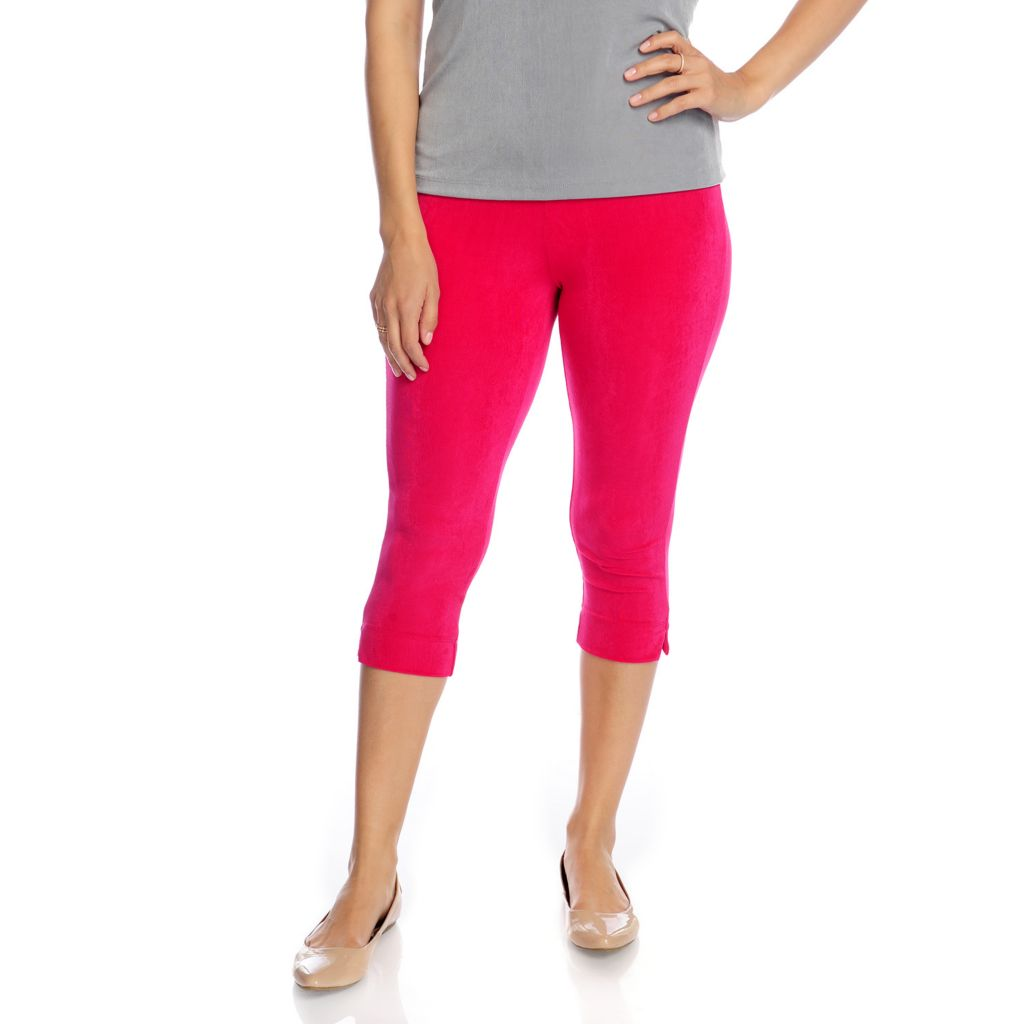 717-730 - Affinity for Knits™ Elastic Waist Slim Leg Cropped Pants