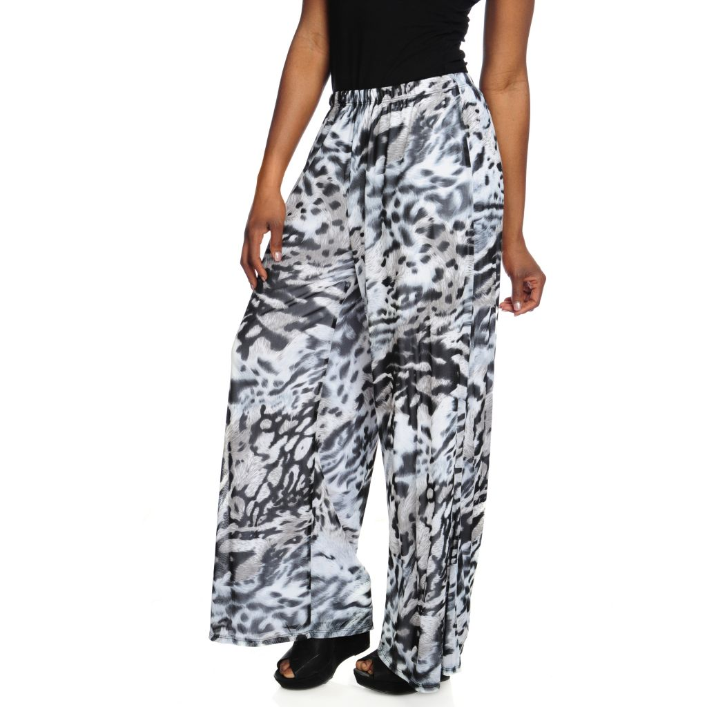 717-733 - Love, Carson by Carson Kressley Printed Mesh Fully Lined Palazzo Pants