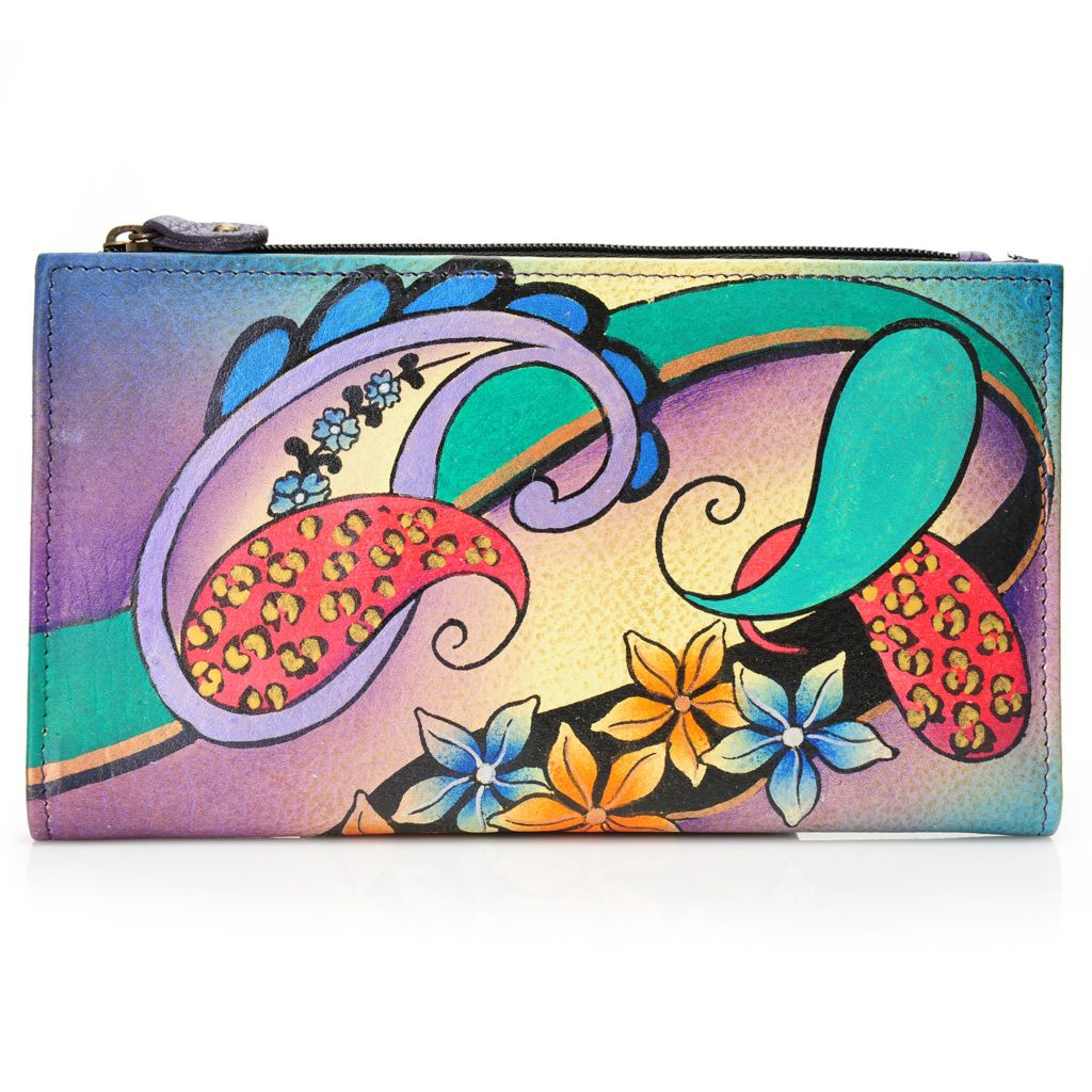 717-830 - Anuschka Hand-Painted Leather Bi-Fold Wallet