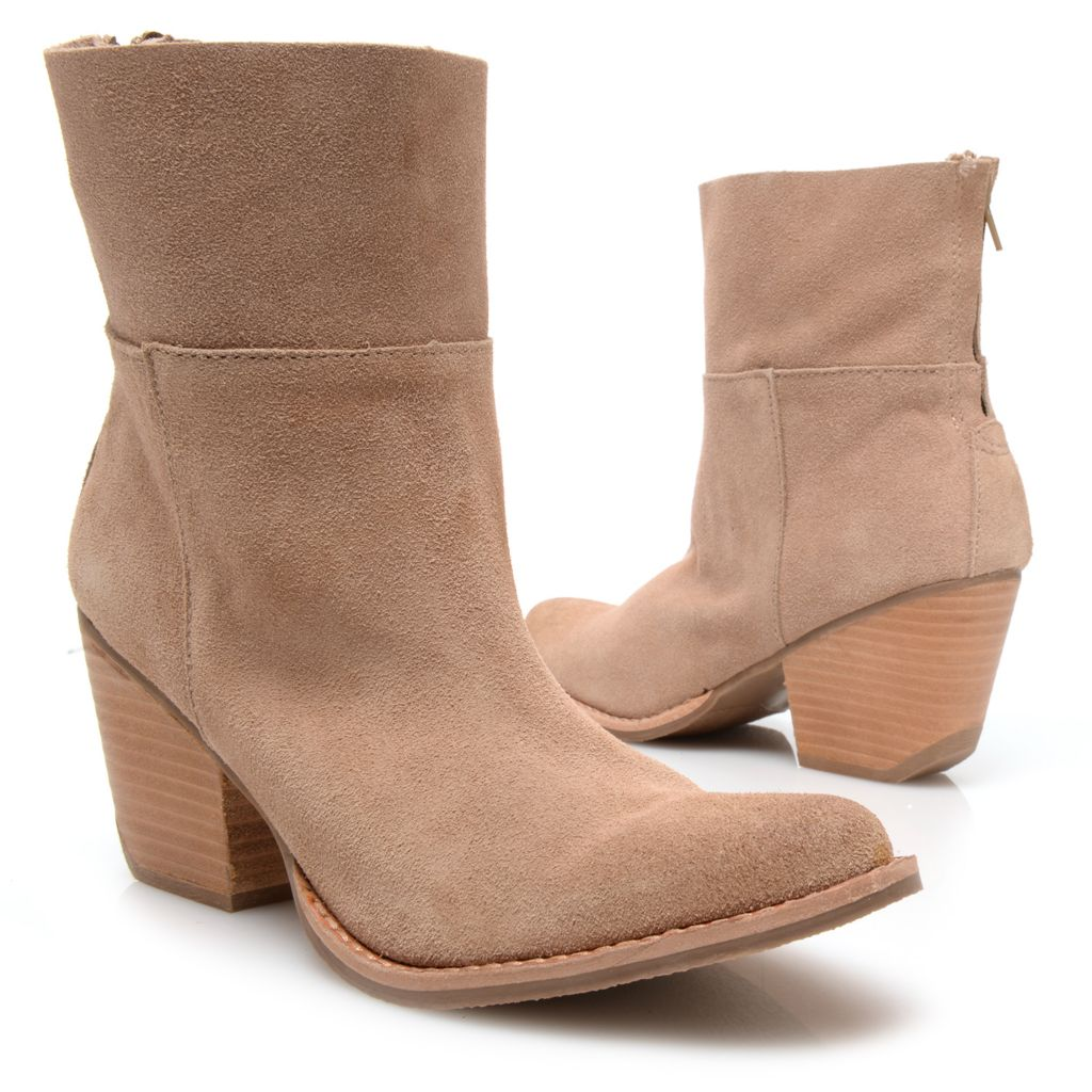 717-836 - Matisse® Suede Leather Back Zip Ankle Boots