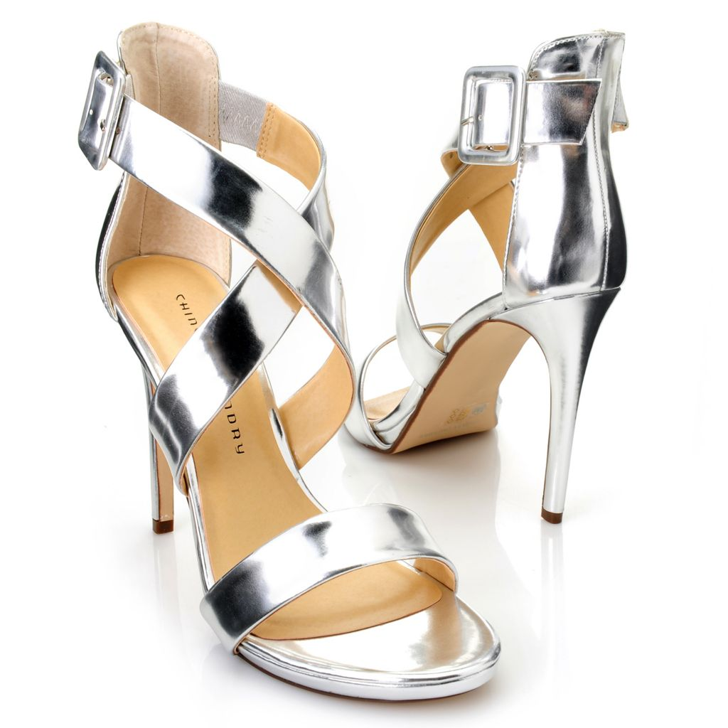 717-878 - Chinese Laundry Strappy Crisscross Buckle Detailed Stiletto Heels