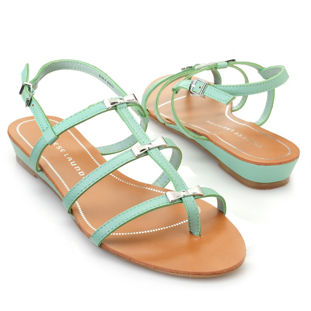717-880 - Chinese Laundry Strappy Bow Detailed Thong Sandals