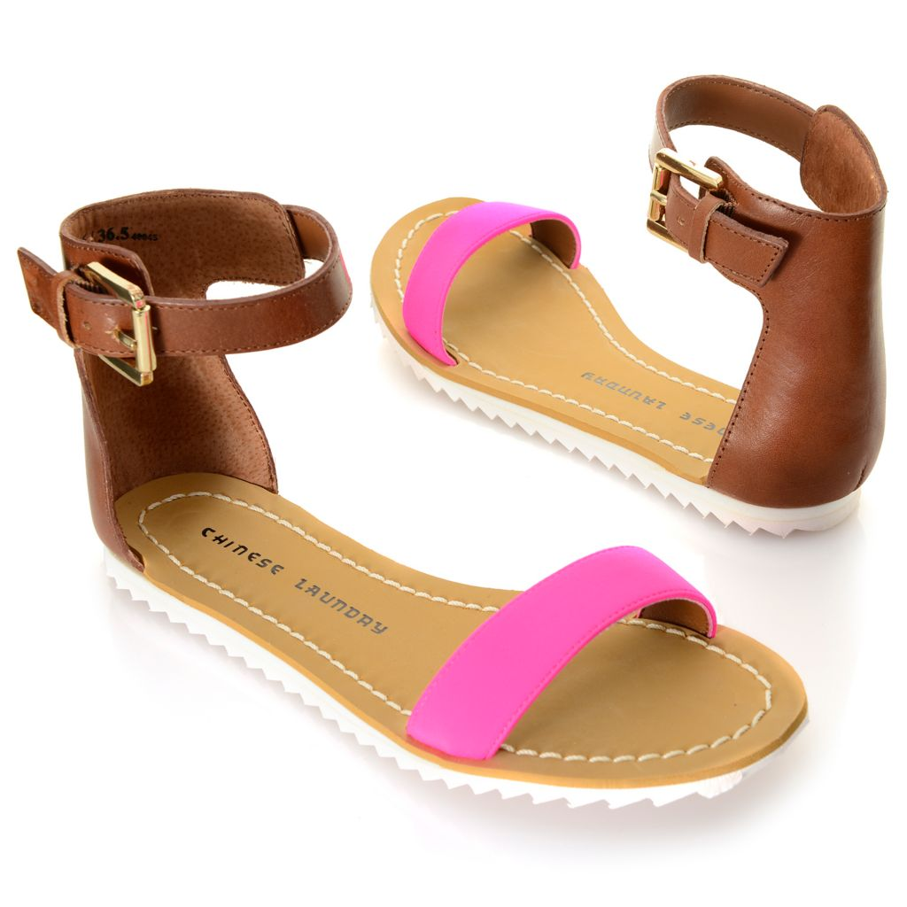 717-883 - Chinese Laundry Buckle Detailed Ankle Strap Sandals