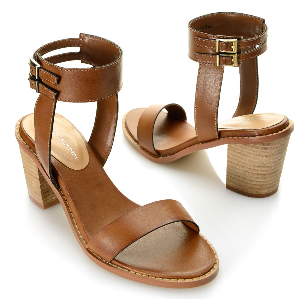 717-887 - Chinese Laundry Buckle Detailed Ankle Strap Sandals