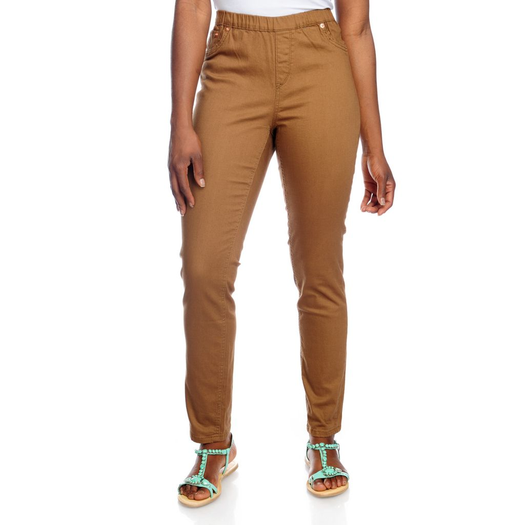 717-917 - WD.NY Stretch Twill Three-Pocket Slim Leg Pull-on Pants