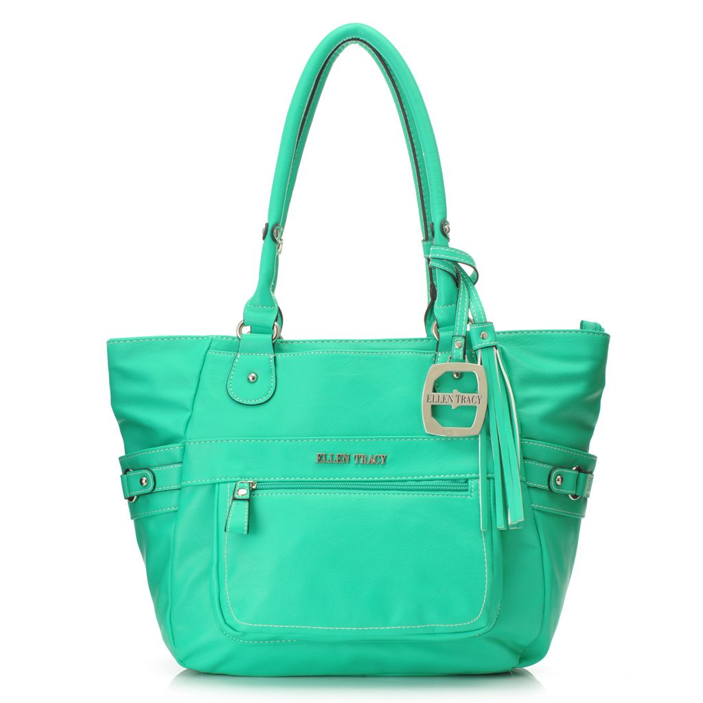 717-938 - Ellen Tracy Double Handle Zip Top Satchel
