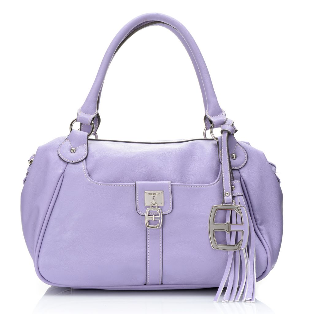 717-944 - Ellen Tracy Double Handle Zip Top Barrel Satchel