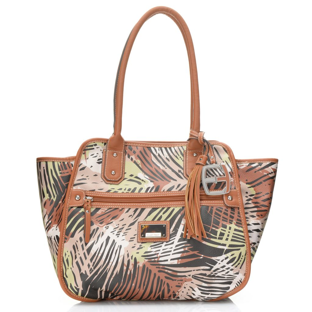 717-952 - Ellen Tracy Double Handle Tapered Large Tote Bag