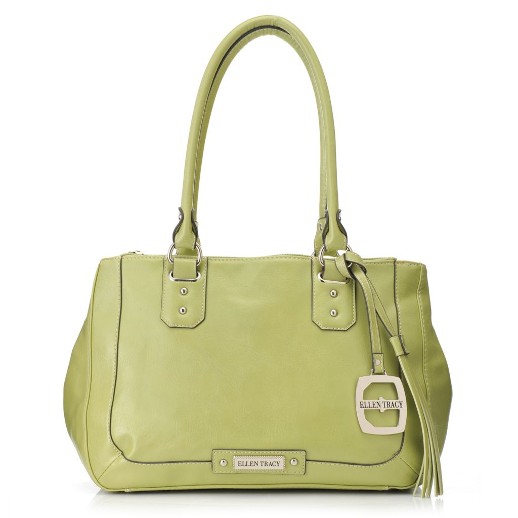 717-954 - Ellen Tracy Double Handle Multi Compartment Satchel