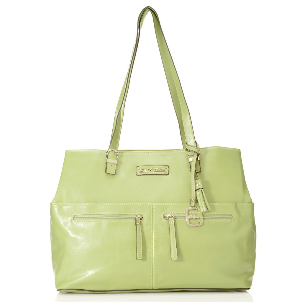 717-957 - Ellen Tracy Double Handle Multi Pocket Tote Bag