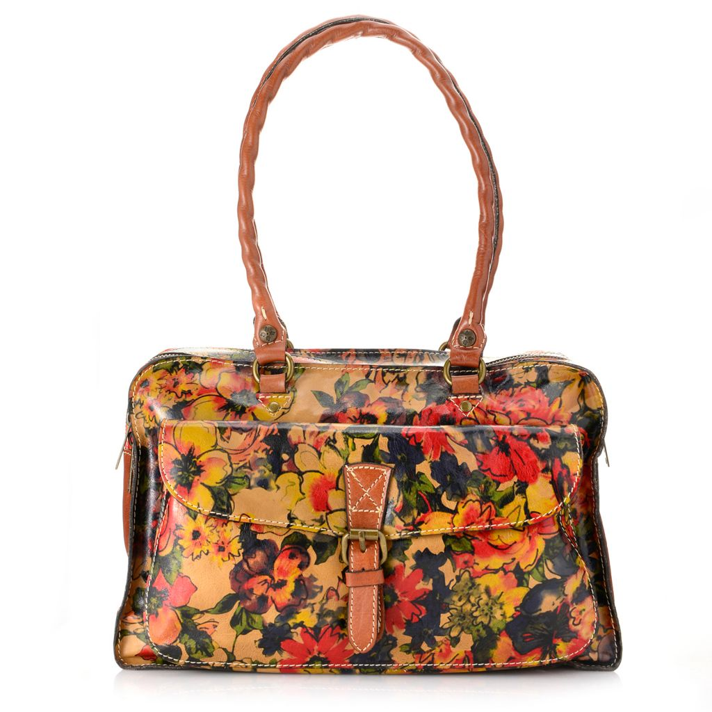 717-968 - Patricia Nash Leather Double Handle Two-Compartment Satchel