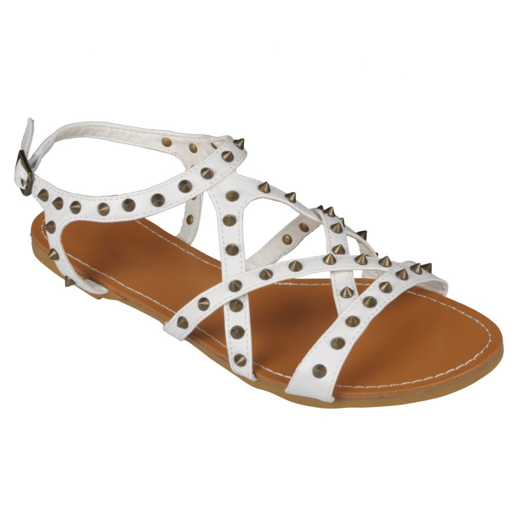 718-022 - Hailey Jeans Co Women's Spike Detail Flat Sandals