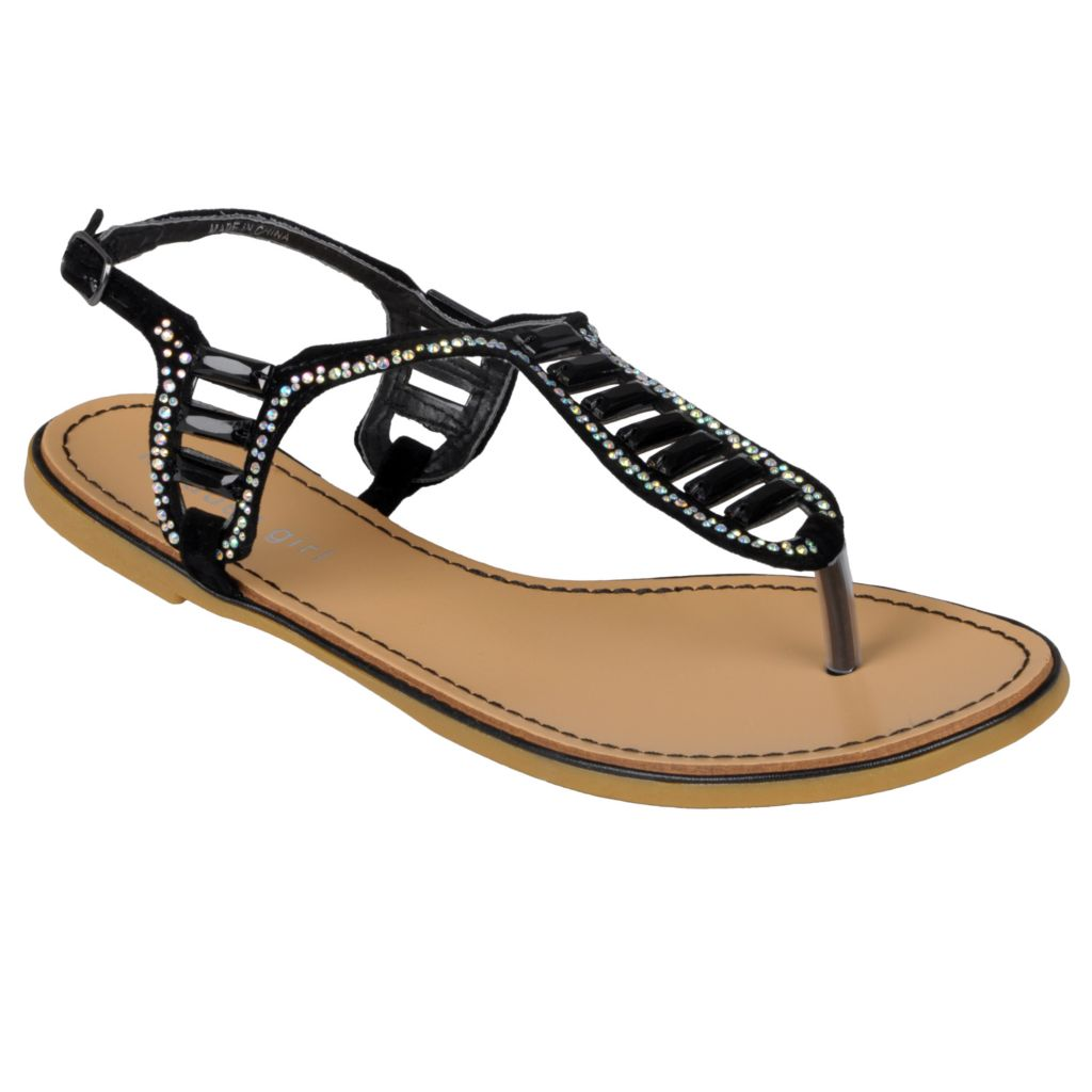 718-024 - Madden Girl by Steve Madden Women's Jeweled T-Strap Sandals