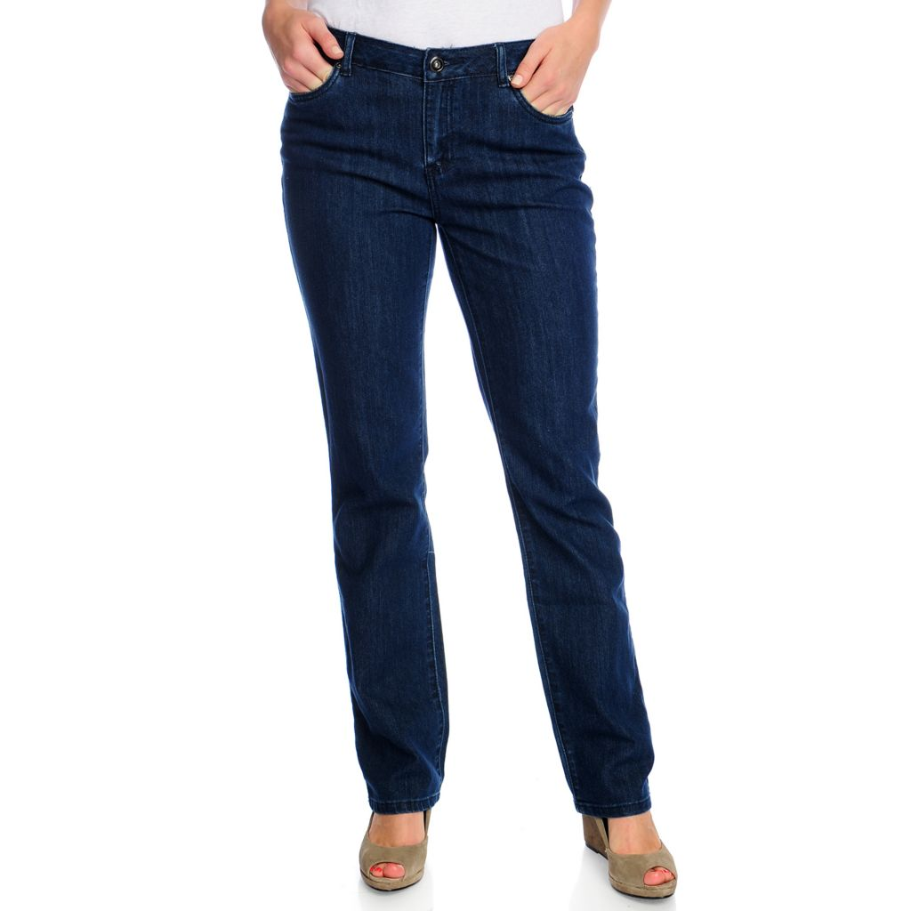 718-043 - OSO Casuals Stretch Denim Straight Leg Basic Five-Pocket Jeans