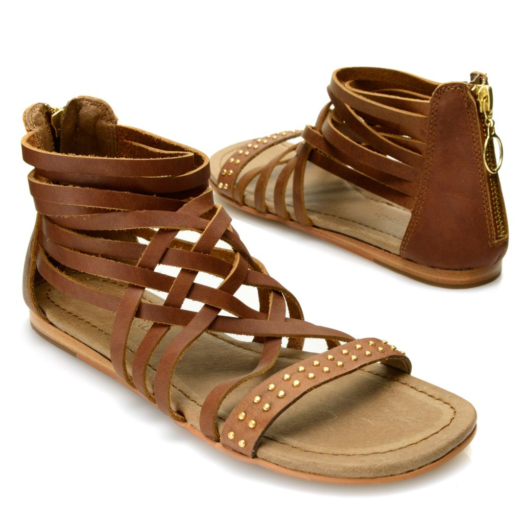 718-059 - EMU® Crisscross & Studded Strap Gladiator Sandals