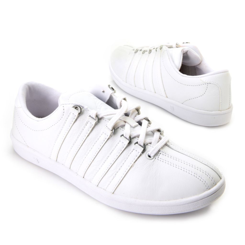 718-078 - K-Swiss® Women's Leather Classic Lace-up Sneakers