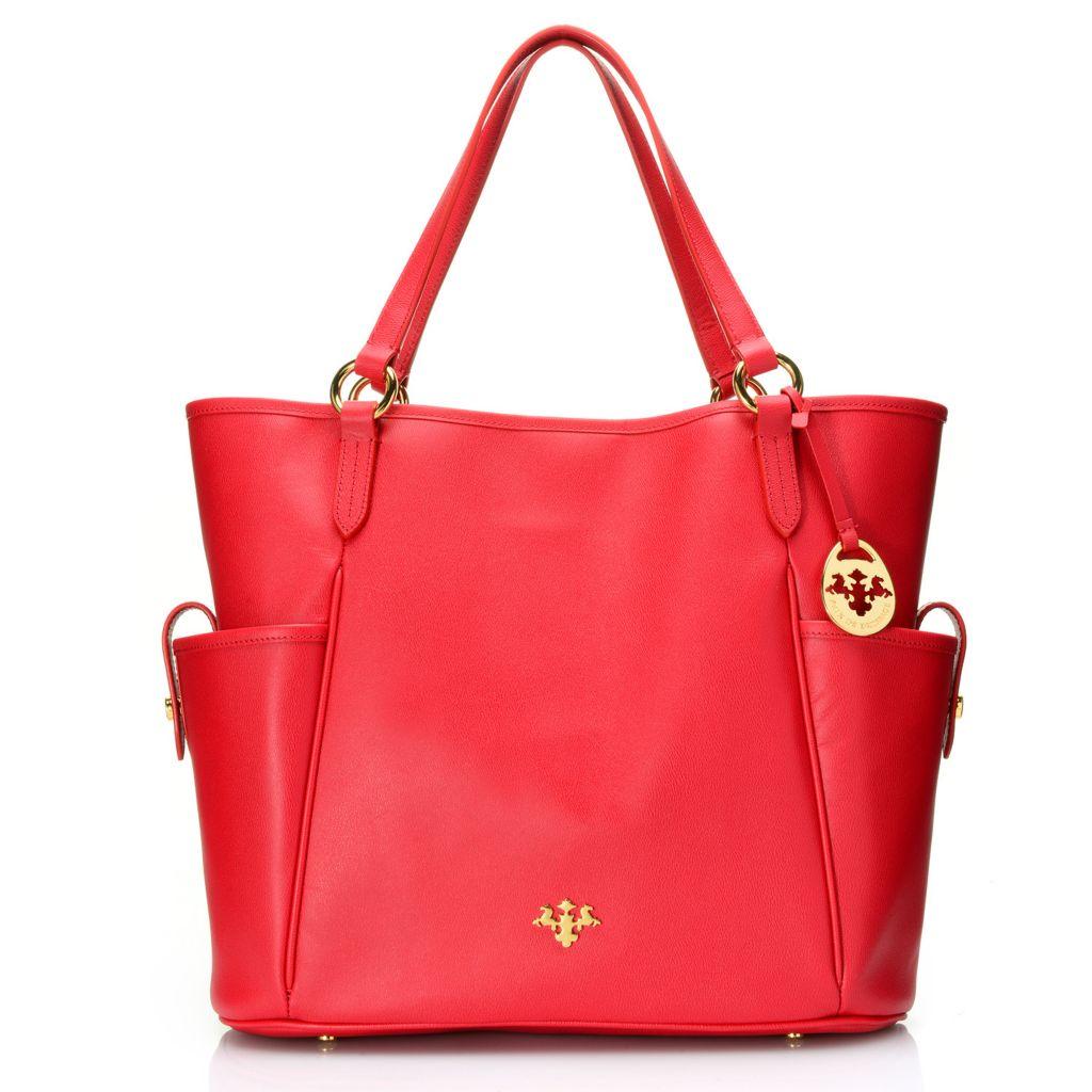 718-119 - PRIX DE DRESSAGE Grained Leather Double Handle Large Tote Bag