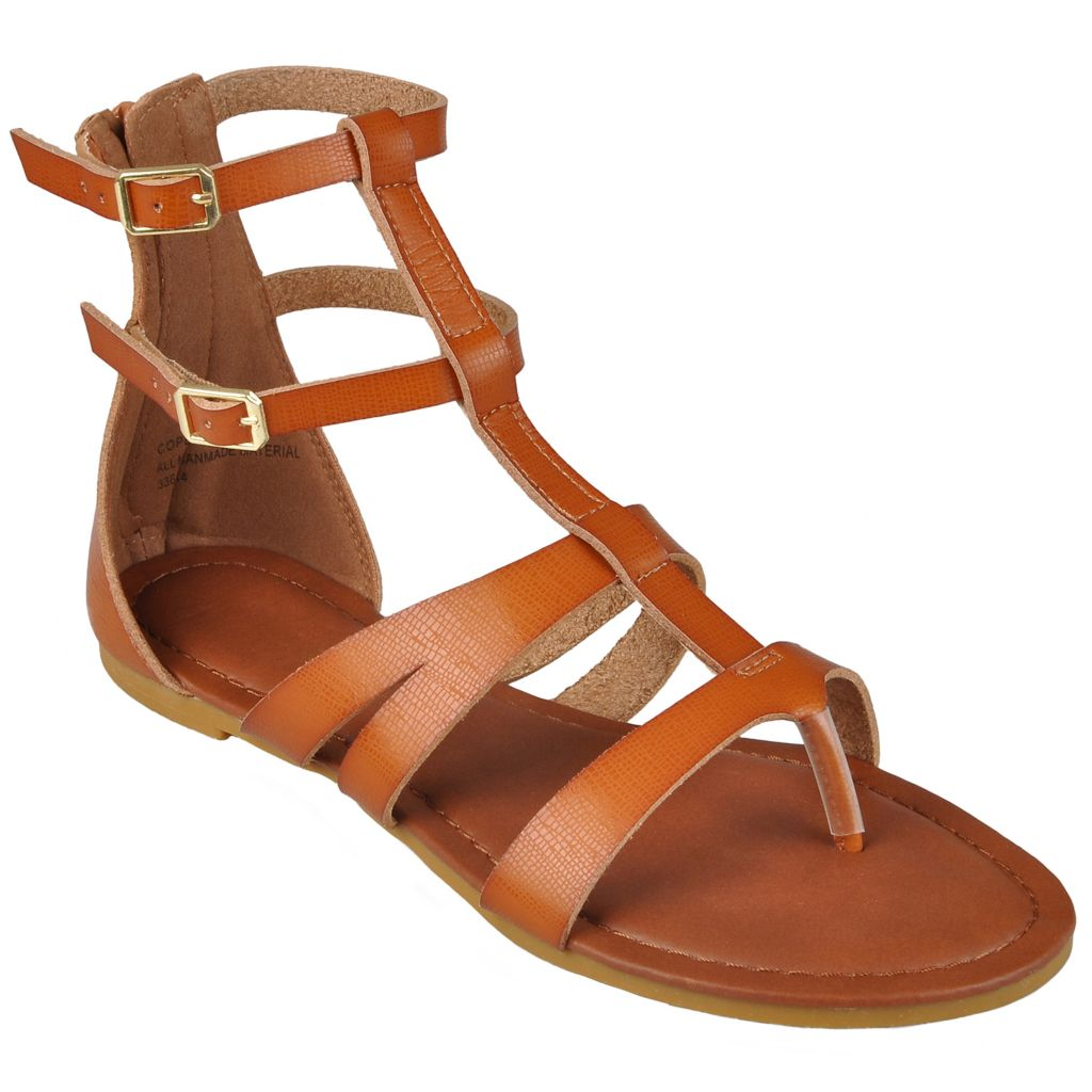 718-210 - Hailey Jeans Co. Women's Strappy T-Strap Gladiator Sandals