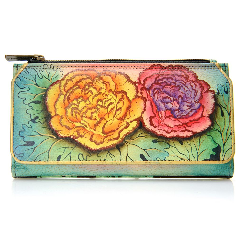 718-247 - Anuschka Hand-Painted Leather Organizer Wallet