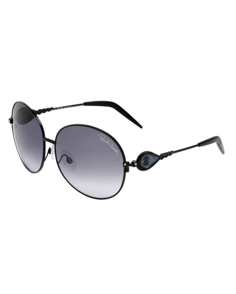 718-326 - Roberto Cavalli Women's Round Black Framed RC616 Sunglasses