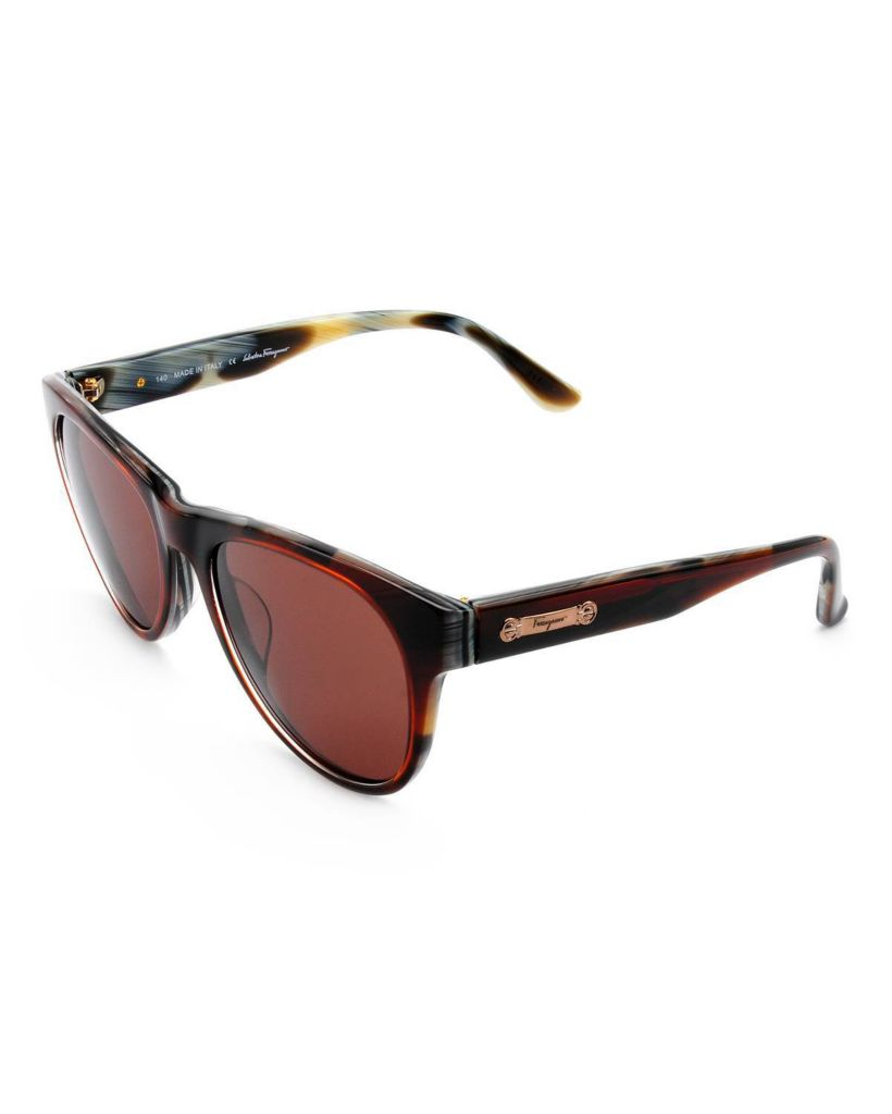 718-330 - Salvatore Ferragamo Women's Brown Horn Italian Sunglasses