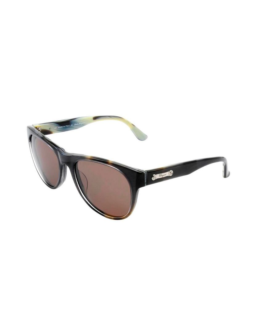 718-334 - Salvatore Ferragamo Women's Grey Horn Italian Sunglasses