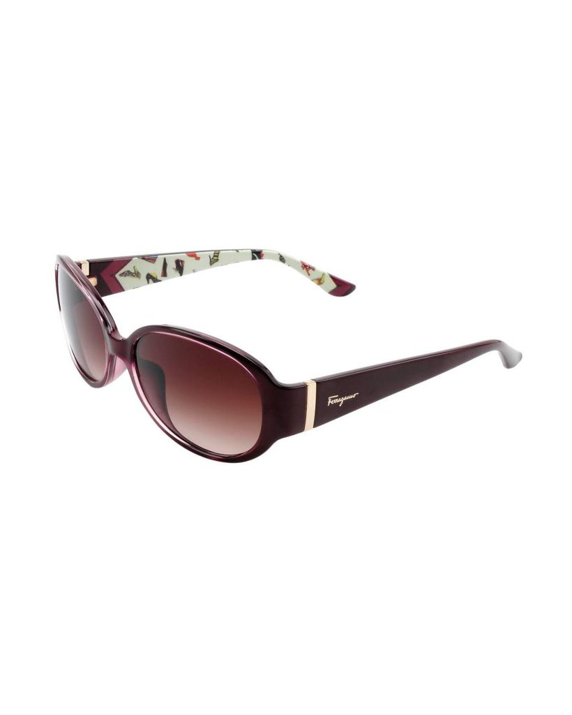 718-336 - Salvatore Ferragamo Women's Burgundy Italian Sunglasses