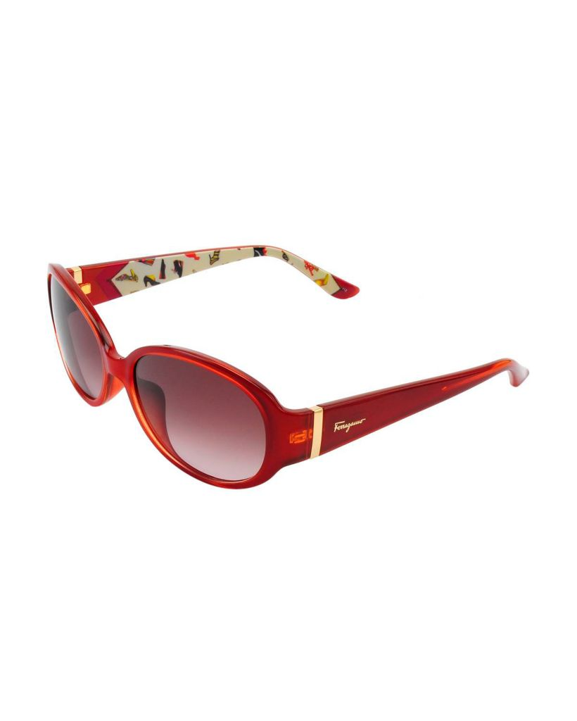 718-339 - Salvatore Ferragamo Women's Rust Italian Sunglasses