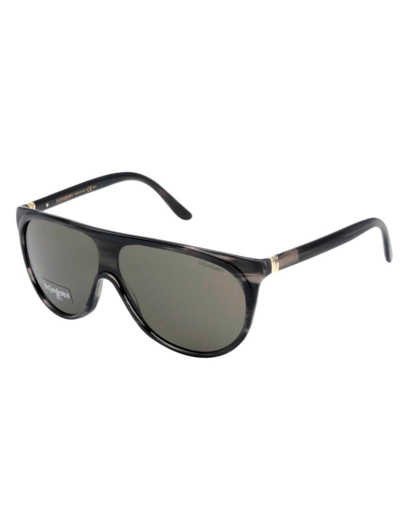 718-344 - Yves Saint Laurent Women's Dark Horn Italian Sunglasses