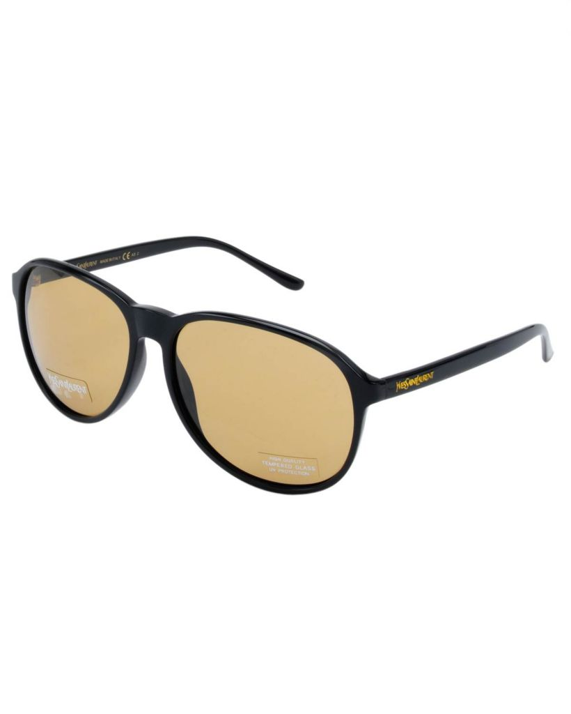 718-346 - Yves Saint Laurent Women's Round Black Italian Sunglasses