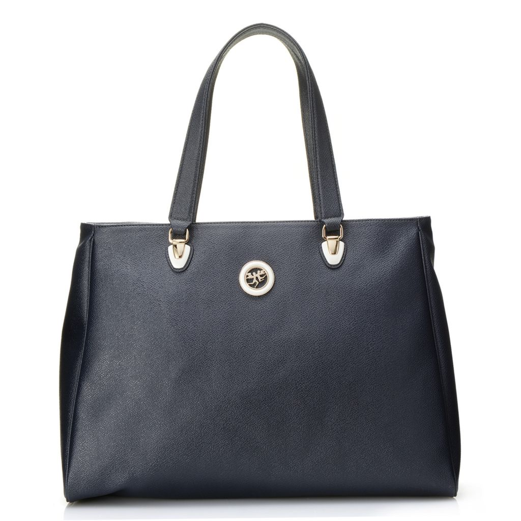 718-349 - Piero Guidi Coated Canvas Royal Collection Double Handle Zip Top Tote Bag