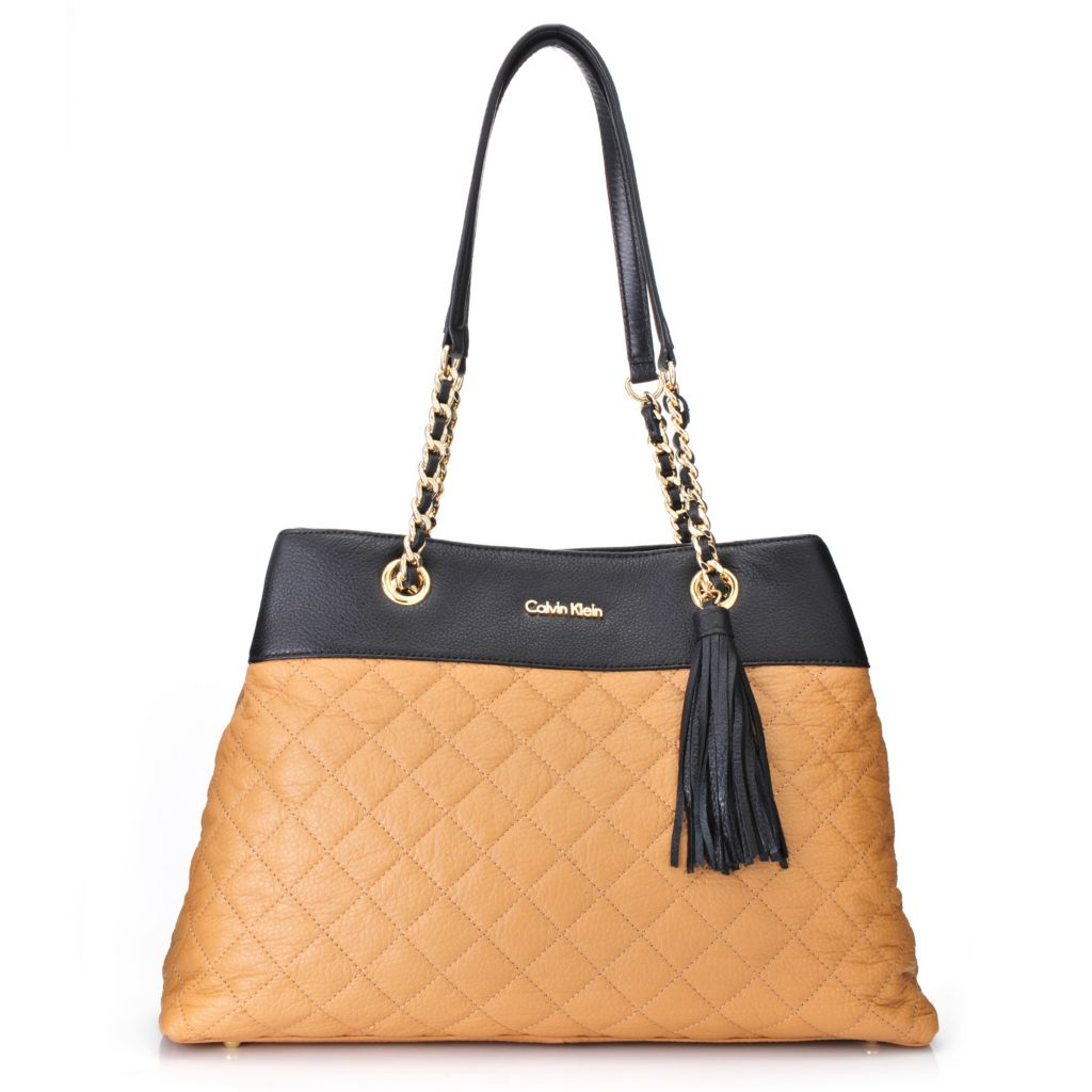 718-365 - Calvin Klein Handbags Quilted Leather Tote