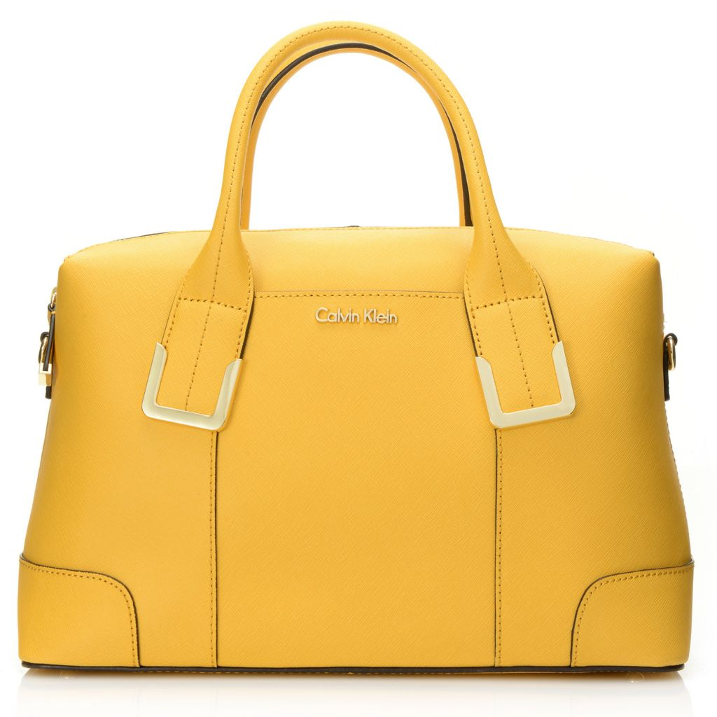 718-366 - Calvin Klein Handbags Saffiano Leather Convertible East/West Satchel