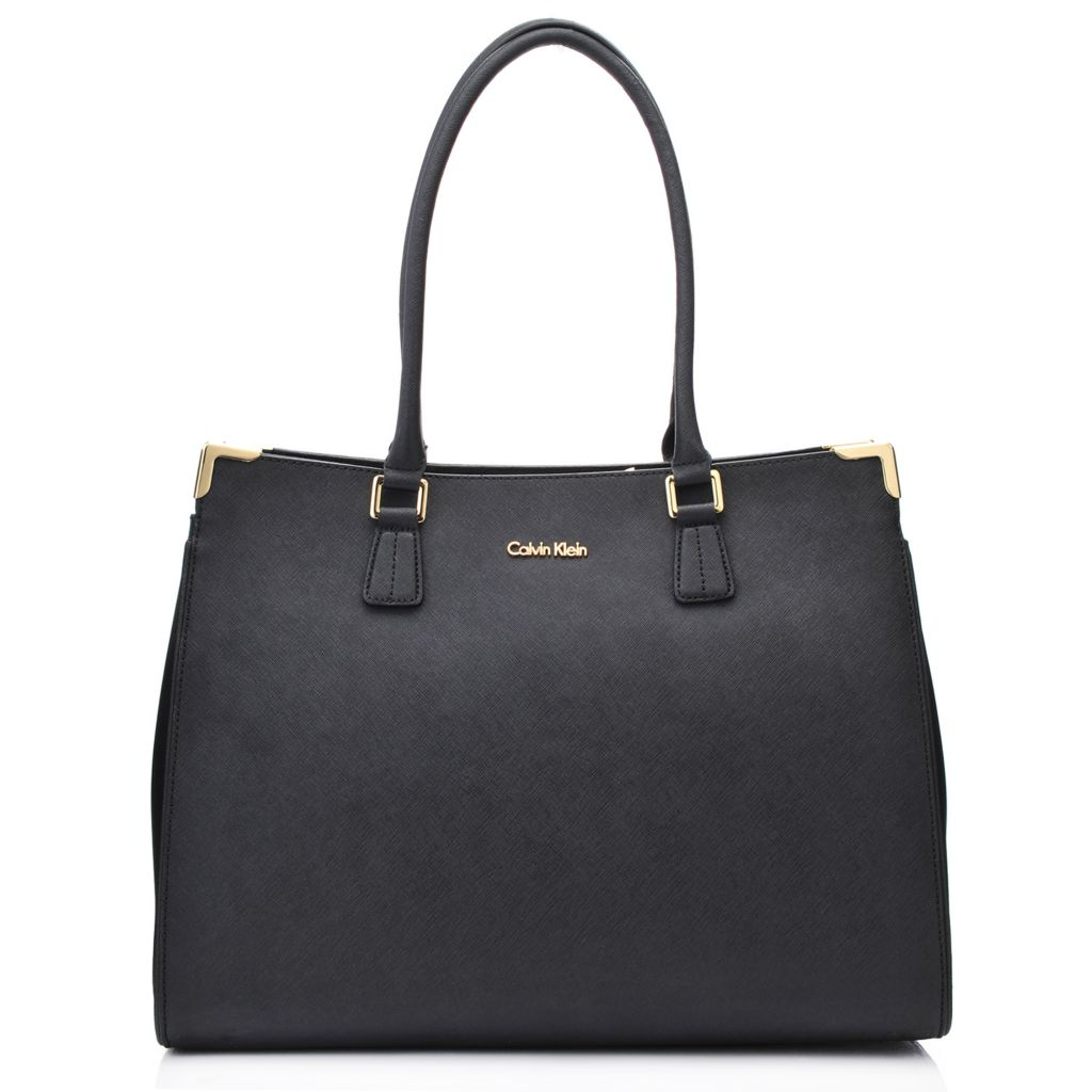 718-368 - Calvin Klein Handbags Saffiano Leather North/South Tote