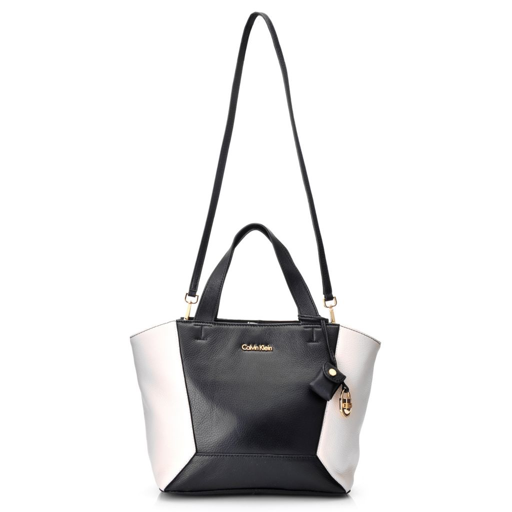 718-369 - Calvin Klein Handbags Pebbled Leather Convertible Tote