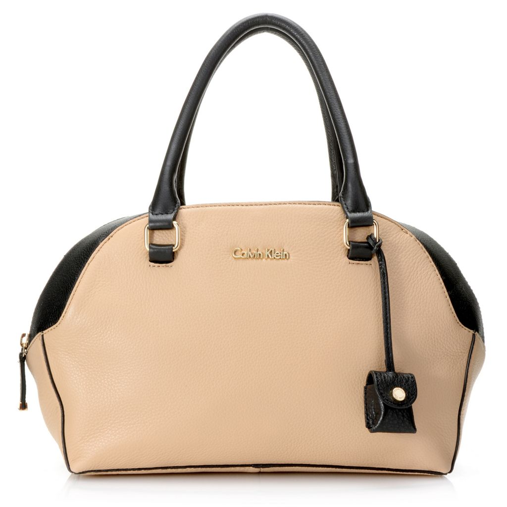 718-370 - Calvin Klein Handbags Pebbled Leather Convertible Satchel