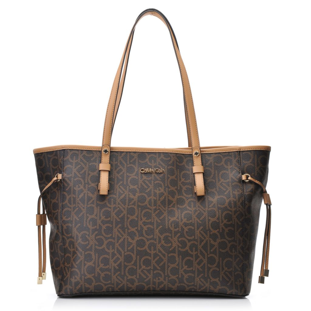 718-374 - Calvin Klein Handbags Logo East/West Tote