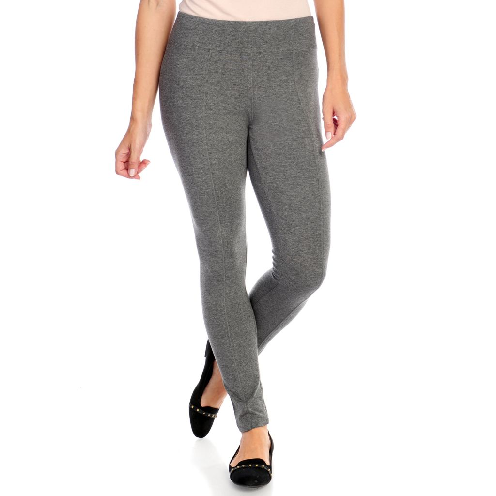 718-527 - One World Knit Ankle Length Zipper Detailed Leggings