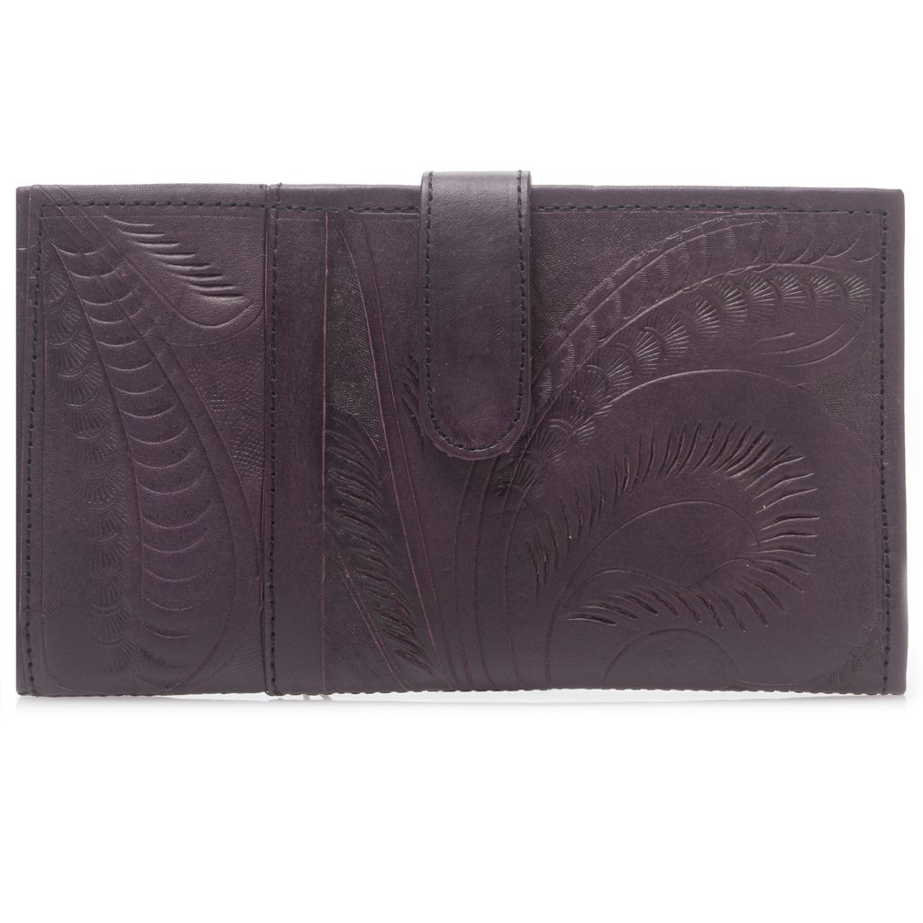 718-581 - Labrado™ Leather Hand-Tooled Bi-Fold Wallet