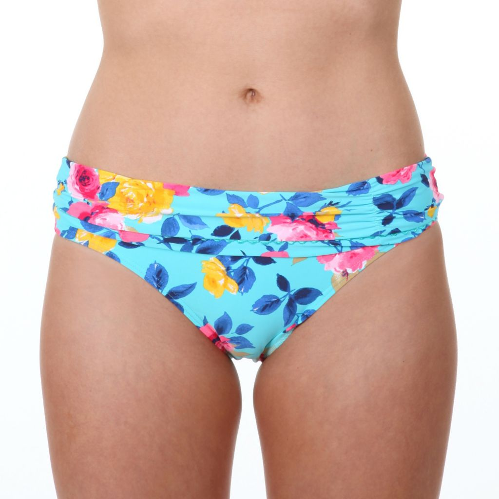 718-608 - Betsey Johnson Hipster Floral Swimsuit Bottom