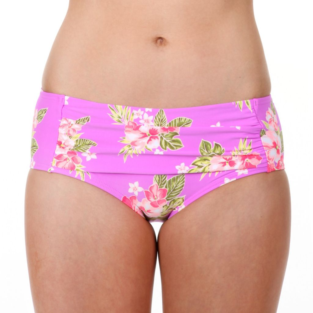 718-623 - Betsey Johnson Retro High Waisted Floral Swimsuit Bottom