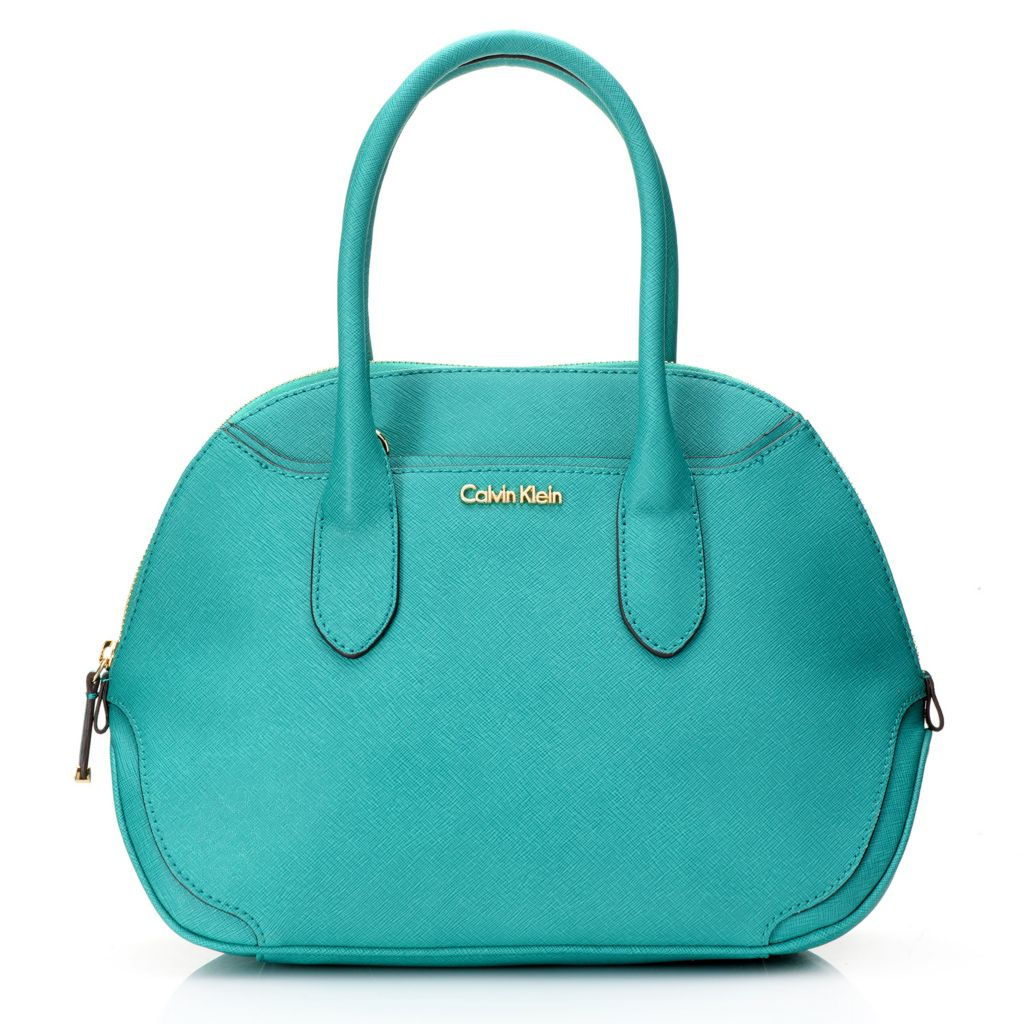 718-684 - Calvin Klein Handbags Saffiano Leather Convertible Bowler Satchel
