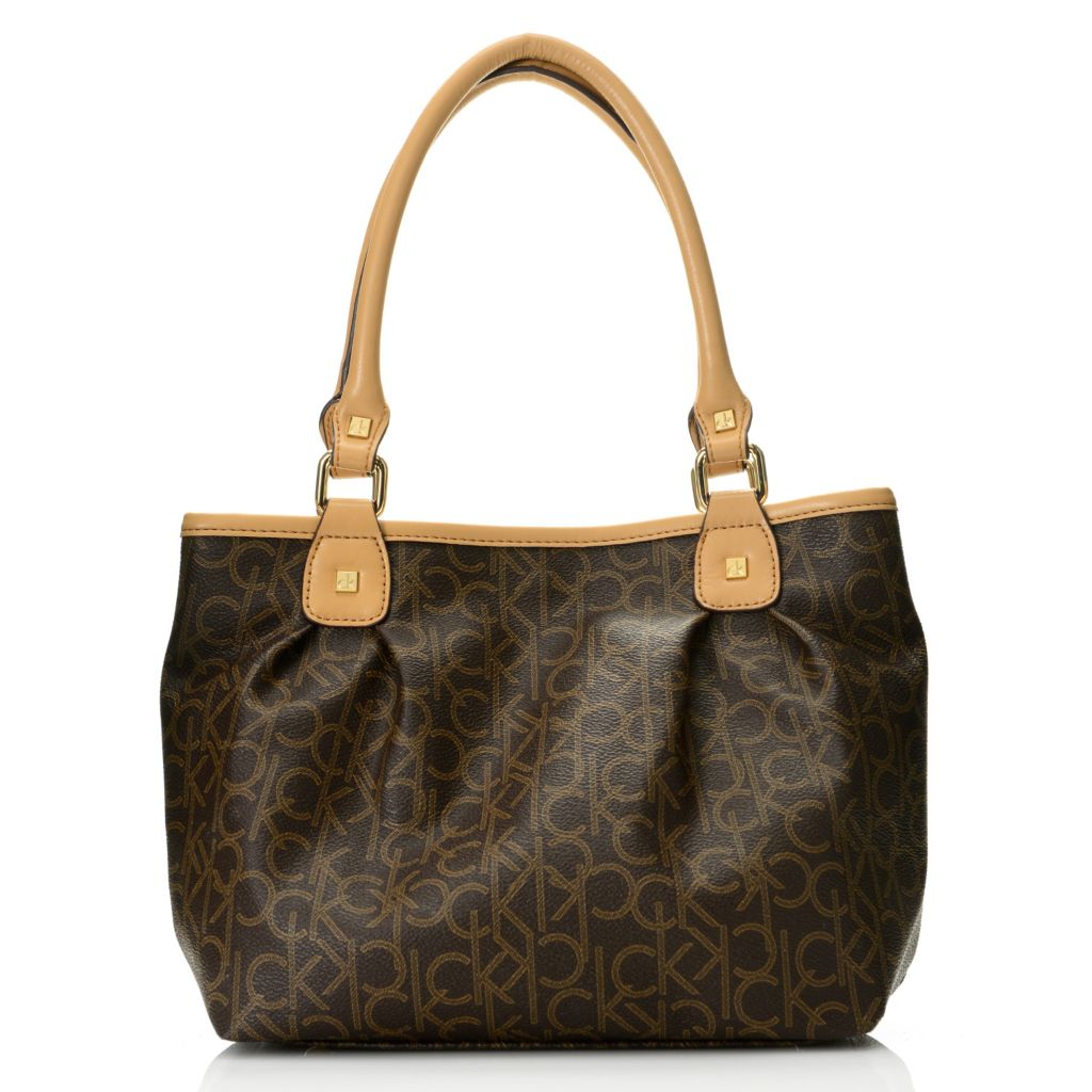 718-686 - Calvin Klein Handbags Logo Pleated Tote