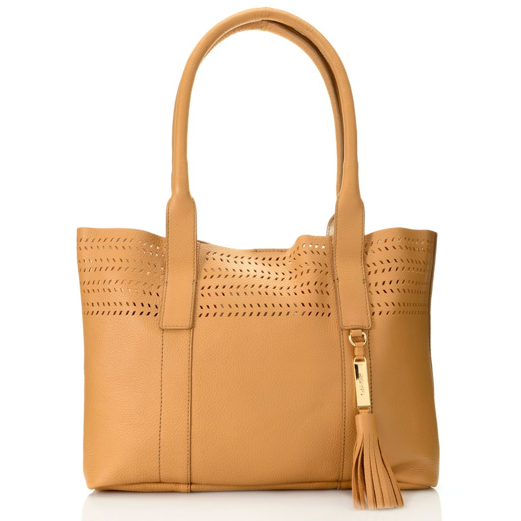 718-687 - Calvin Klein Handbags Pebbled Leather Perforated Tote